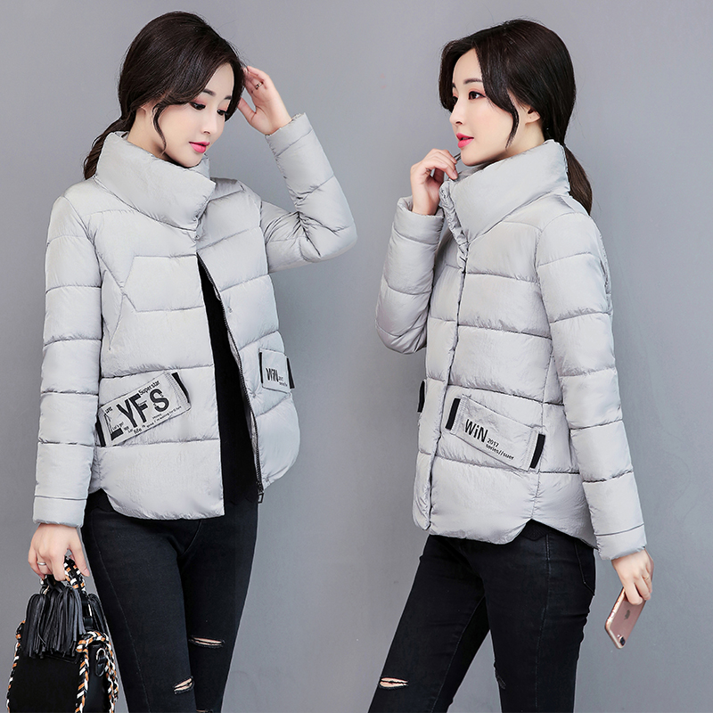 font b Women b font Winter Coats 2017 Fashion Letter Short Outerwear font b Womens
