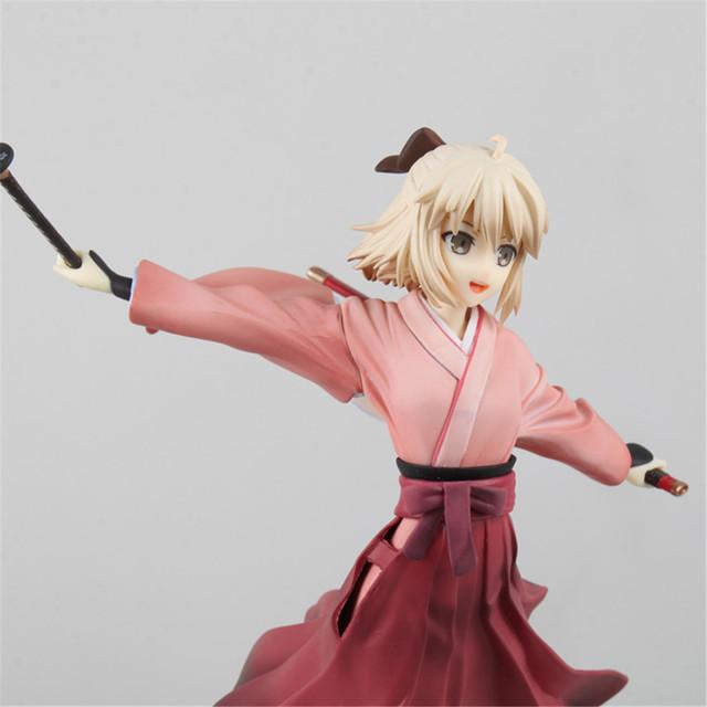 Anime Fate Figure KOHA-ACE Okita Souji Sakura Saber Action Figure Kimono Dress Ver. PVC Toys For Children Gift  Figma Doll PM