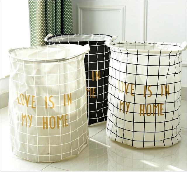Small Grid Soft Storage Basket Big Size Laundry Basket Clothing Storage Case Storage  sc 1 st  AliExpress.com & Free Shipping!Small Grid Soft Storage Basket Big Size Laundry Basket ...