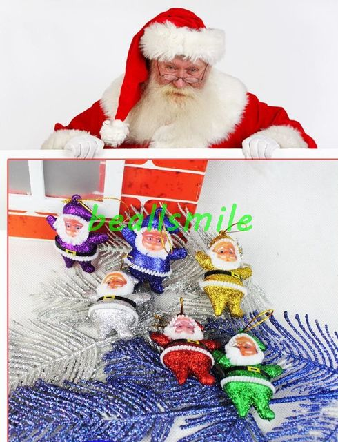 Free Shipping New Fashion With Gold Powder Drawing 5cm Little Santa