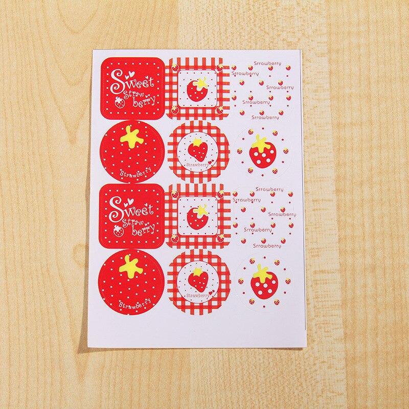Sceau autocollant cadeau décoratif D43 fabricants | Sceau de corée du sud avec série de fraises mignonnes D43