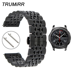 22mm Stainless Steel Watchband + Quick Release Pins for Samsung Gear S3 Classic Frontier Watch Band Wrist Strap Link Bracelet