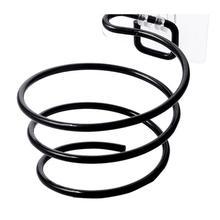 Настенный фен для волос без бурения, спиральная подставка, держатель, стойка без следов, железная полка для ванной комнаты, стеллаж для хранения для ванной комнаты