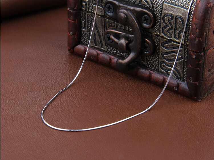 2017 wysokiej jakości moda gorący bubel wąż łańcuch 925 sterling silver ladies'snake naszyjniki biżuteria prezent hurtownie