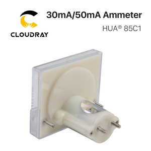 Image 4 - Cloudray 30mA 50mA Ammeter HUA 85C1 DC 0 30mA 0 50mA Analog Amp Panel Meter Current for CO2 Laser Engraving Cutting Machine