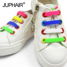 JUP 1 Bag/10 Roots Shoelaces Novelty No Tie Shoelaces Unisex Elastic Silicone Shoe Laces Child Girl Men Women Sneakers Fit Strap new 3 sets 16 roots unisex adults womens mens fashion no tie elastic silicone shoelaces flat shoes footwear recreational running