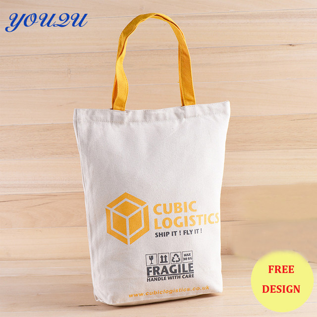 Custom Printed Canvas Tote Bags Blank Bag Printing Own Logo Escrow Accept