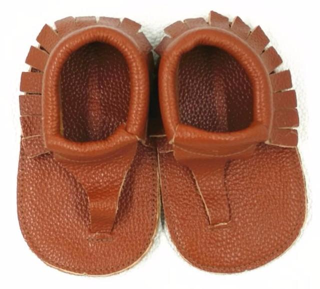 Comercio al por mayor 10 par/lote Marrón Verano Mocasines Zapatos de Bebé de Cuero genuinos Chaussure Bebé recién nacido niños niñas zapatos 2017 zapatos de los niños