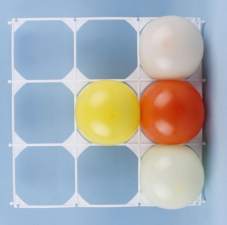 50pcs/lot Latex balloon mesh plastic 9 holes balloon grids balloon ...