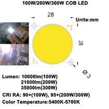 MARSWAL светодиодный высокий CRI 90 +/95 + ультра яркость 100 Вт/200 Вт/300 Вт COB светодиодный дневной свет белый 5600 K для DIY светодиодный фонарик сценический свет