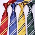 (4 unids/lote) Accesorios Trajes Corbatas unisex Corbata Harry Potter Gryffindor Slytherin Hufflepuff Ravenclaw Corbata M0052