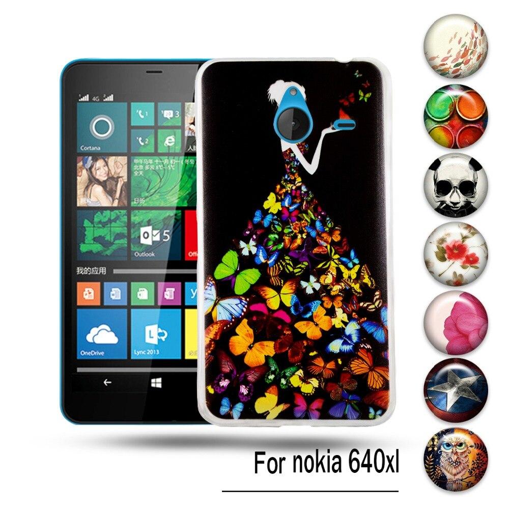 DIY Живопись Мягкая ТПУ Телефон Дела Для Microsoft Nokia Lumia 640XL 640 XL N640XL Case Cover For Nokia 640XL 640 XL Щит мешки