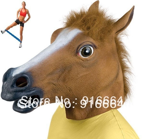 Horse Head halloween Mask Animal Horse Head Mask Party With LOOP BAND GIFT