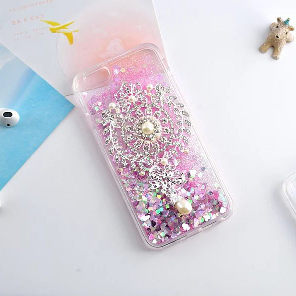 online store 89699 7b7c4 US $9.99 |Glitter Case For iPhone 6 Plus Stylish Bling Bling Brooch Jewelry  Cellphone 6S Plus Back Cover on Aliexpress.com | Alibaba Group