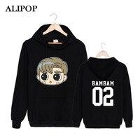ALIPOP Kpop GOT7 Q Style Album MY SWAGGER Hey Yah ARRIVAL DEPARTURE FLY Cotton Hoodies Hat K-POP Pullovers Sweatshirts PT493