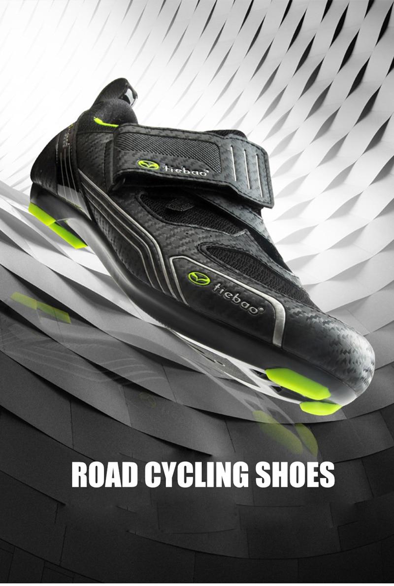 Tiebao bicicleta de estrada sapatos triathlon 2019