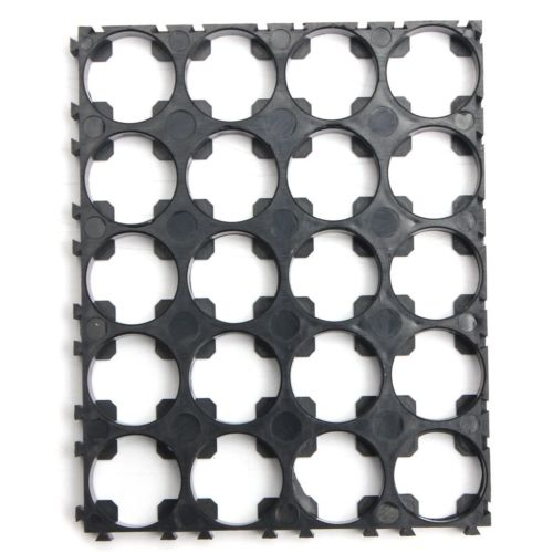 18650 Battery 4x5 Cell Spacer Radiating Shell Pack Plastic Heat Holder 100pcs18650 battery cell holder safety spacer radiating shell storage bracket mayitr suitable for 1x 18650 battery