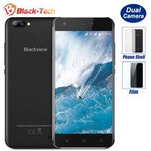 Лучшие Blackview A7 двойной сзади камеры смартфона 5,0 дюймов HD MTK6580A 4 ядра Android 7,0 1 ГБ Оперативная память 8 ГБ Встроенная память 5MP cam 2800 мАч Батарея