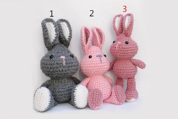 Bunny Rabbit Amigurumi bunny Crochet pattern Knitted ...