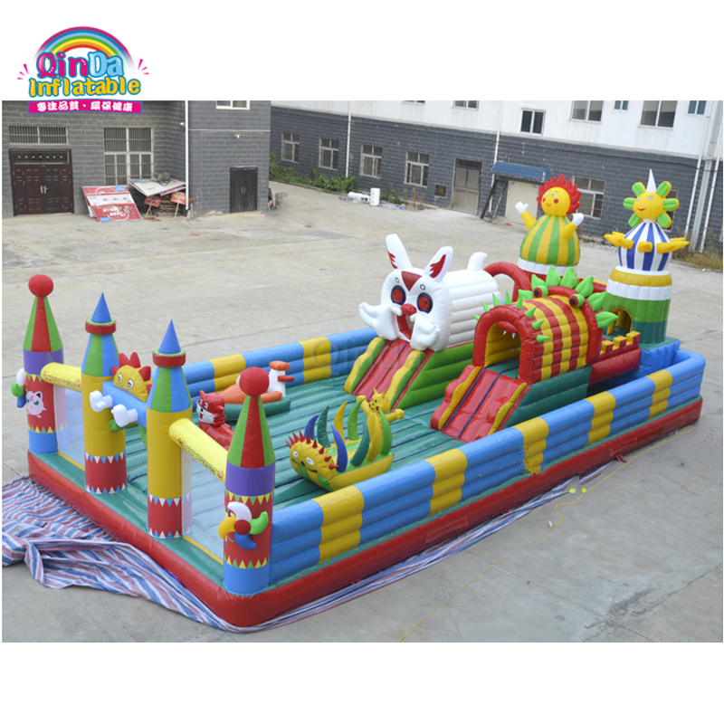 2017 New design inflatable bouncy castles outdoor jumping castle for kids yard new large size inflatable slide and with area for kids to play bouncy castle amusement park