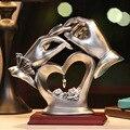 Hand Herz förmigen Kristall Figuren Home Decor Zubehör Dekoration Handwerk Figuren Miniaturen Ornamente Hochzeit Geschenk R800|Statuen & Skulpturen|   -