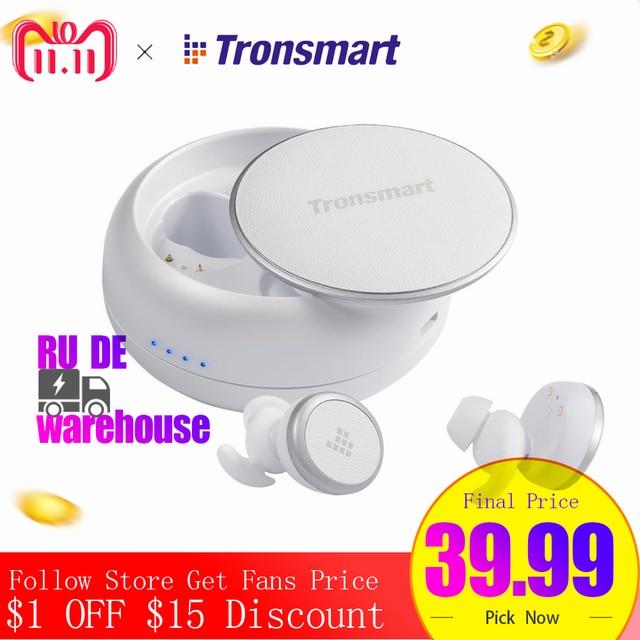 Tronsmart Encore Courageux Bourgeons Bluetooth Écouteurs Sans Fil Écouteurs Vrai Sans Fil Stéréo Écouteurs IPX5 avec Mic pour Téléphones