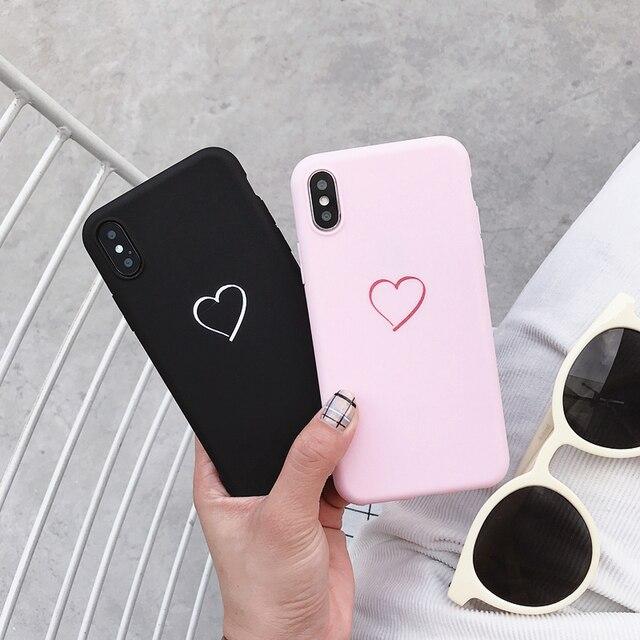 Fundas bonitas de corazón amor Simple para Xiaomi Redmi Note 3 4 4X5 5A 6 7 Pro 3 S funda de silicona suave 4A 6A S2 Plus GO A2 Lite