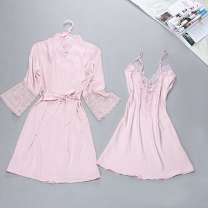 Image 2 - Sexy Summer Womens Robe Bath Gown Sleepwear Casual Ladies Home Wear Nightwear