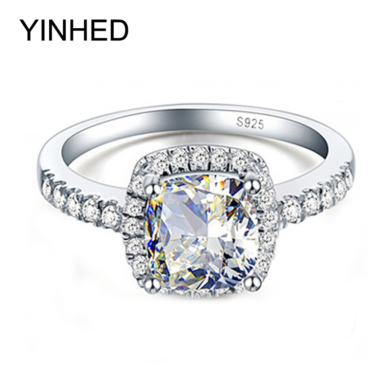 hot sale 100 925 sterling silver big 4 carat cz diamant crystal wedding rings for - Wedding Rings For Sale