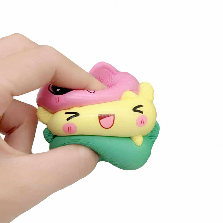 Besegad 11,5 см Kawaii Kitty Panda Kat кошка Медведь Squishy Squishi игрушка замедлить рост для снимает стресс беспокойство украшения реквизит