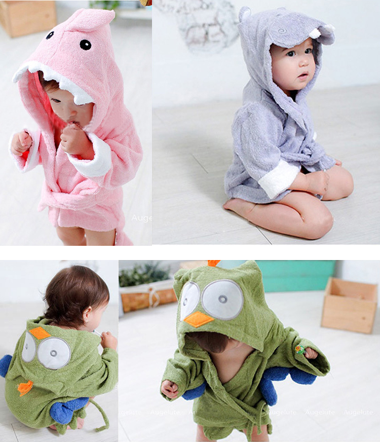 7e01a849d1 Aliexpress.com   Buy Colorful Baby Kid Child Bath Towel Bathrobes Hooded  Cute Owl Shark Hippo Shape Light Purple Hippo from Reliable hippo candle  suppliers ...