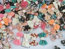 Mix lots Bows 120pcs/lot 40mm*25mm Ribbon Bowtie Hairclip ornament accessories clothes/shoes