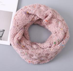 Autumn and winter children's knit color points scarf thick wool scarf boys and girls Korean fashion wild warm collar