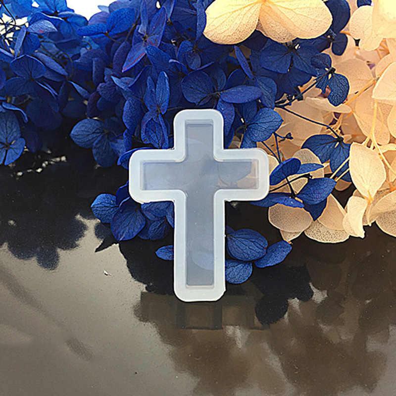 1 шт. крест кулон Жидкая силиконовая форма DIY Создание украшений из каучука инструменты