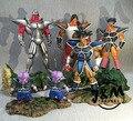FÃS MODELO JM 6 pçs/lote Dragon Ball Z 27 cm Turles equipe resina gk action figure toy para Coleta