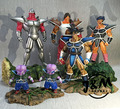 MODEL FANS JM 6pcs/lot Dragon Ball Z 27cm Turles team gk resin action figure toy for Collection