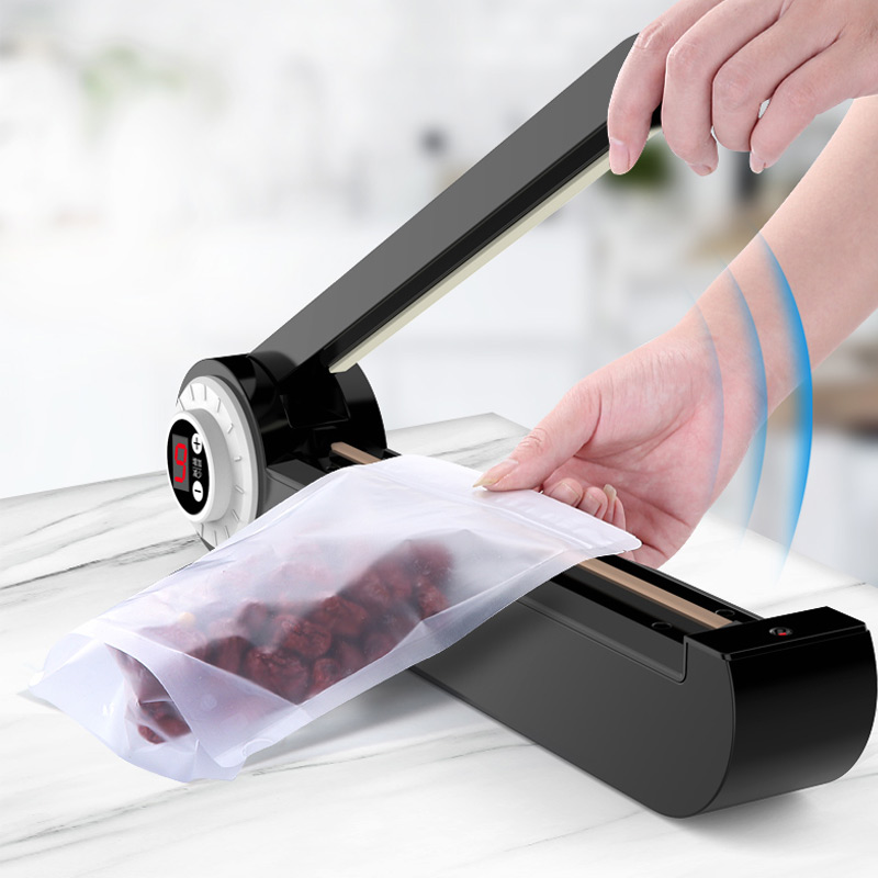 все цены на 220V Manual Plastic Film Sealer Heat Impulse Sealer Poly Bag Plastic Film Sealing Machine for Home Kitchen онлайн