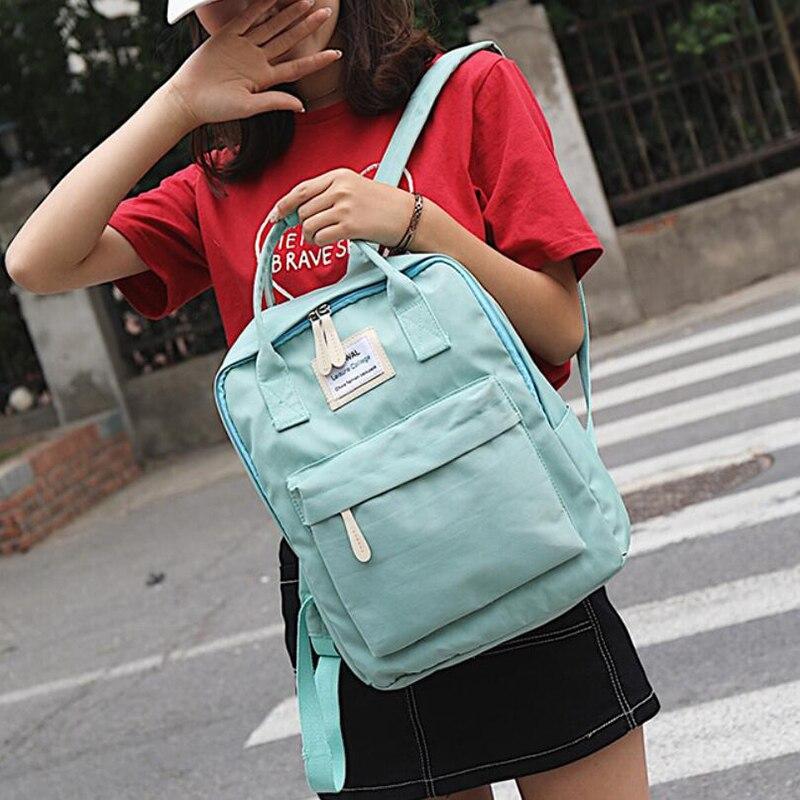 HTB123sYKbGYBuNjy0Foq6AiBFXaW Yogodlns Campus Women Backpack School Bag for Teenagers College Canvas Female Bagpack 15inch Laptop Back Packs Bolsas Mochila