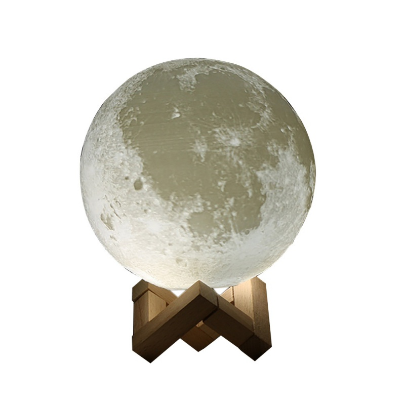 Luna Light LED 3D Printing Moon Lamp Warm Cool White Dimmable Touch Control Brightness with USB Charging Home Decoration