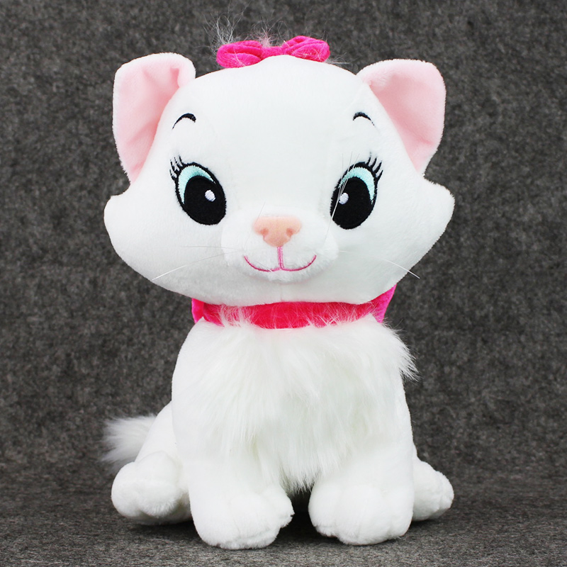 30cm The Aristocats Cat Plush Toys Marie Cat Plush Dolls Kawaii Soft Cartoon Animals Toys for Children