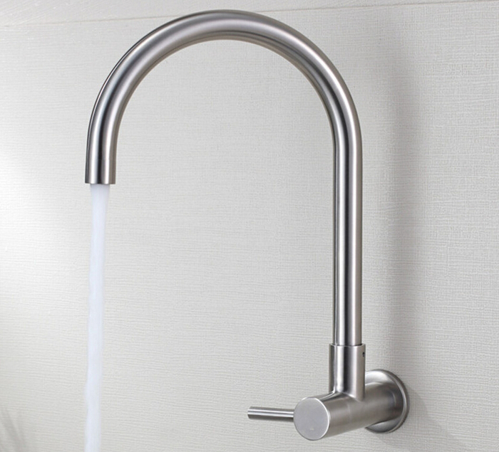 Free shipping SUS304 Stainlessl faucet drinking tap lead free household direct drinking pure water goose wall