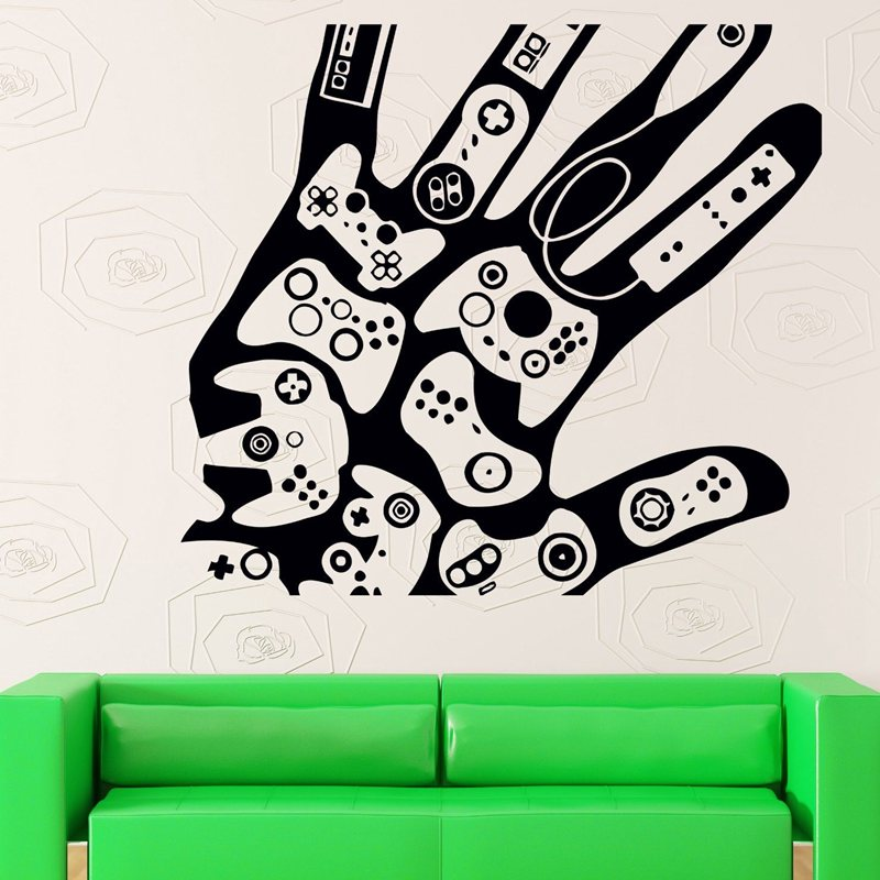 videojuego etiqueta engomada juego decal juego posters gamer vinilo etiquetas de la pared parede decoracin mural