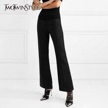หญิงเสื้อผ้าแฟชั่น Flare กางเกงผู้หญิงสูงเอวผ้าพันแผลขนาดใหญ่ Summer