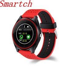 696 Relógio Inteligente Suporte do cartão SIM 2G Câmera Esporte Saúde V9 Relógio das mulheres dos homens de música MP3 Smartwatch Para Android IOS PK DZ09 GT08