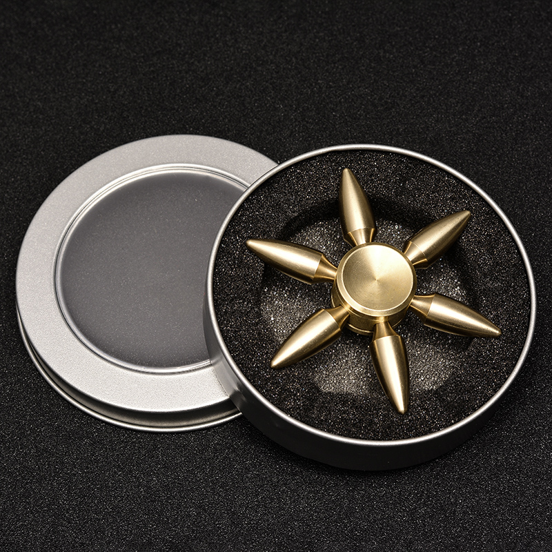 Newest copper hand spinner 4 minutes Quiet stable High Speed Metal fidget spinner #T30
