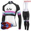 Ropa ciclismo mujer conjunto camisa de ciclismo 2019 das mulheres mountain bike roupas manga longa respirável mtb bicicleta esportiva y032602