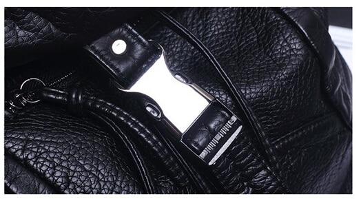 Moda feminina macio mochila de alta qualidade