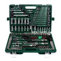 The whole system of 150pcs/set Repair car repair tool kit Ratchet wrench set Multi function portable car care toolbox 1 set