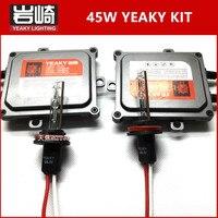Brilhante rápido ESCONDEU kit 45 W YEAKY Atualizado yeaky HID Kits de Xenon H1 H11 escondeu lâmpada kit de conversão H7 5500 K 45 W 9005 9006 yeaky mix hid