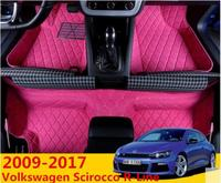 JIOYNG Car Accessories Custom Foot Mats 3D Luxury Leather Car Floor Mats For Vw Volkswagen Scirocco R Line 2009 2017